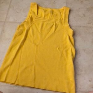 Vintage Yellow Sweater Material Tank